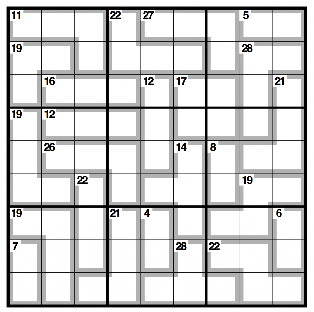 Observer Killer Sudoku | Life And Style | The Guardian | Sudoku Printable Version