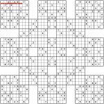 Pin Van Sh R. Op Sudoku | Pinterest   Sudoku Puzzles, Word Search En | Printable Samurai Sudoku X