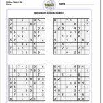 Pindadsworksheets On Math Worksheets | Sudoku Puzzles, Math | 4 Printable Sudoku Medium Level Sudoku
