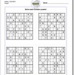 Pindadsworksheets On Math Worksheets | Sudoku Puzzles, Math | Printable Sudoku Challenger Puzzles