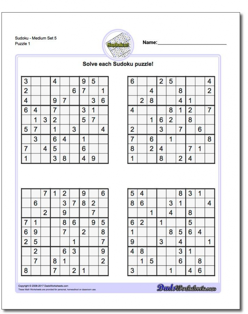 Pindadsworksheets On Math Worksheets | Sudoku Puzzles, Math | Printable Sudoku For 10 Year Olds
