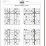 Pindadsworksheets On Math Worksheets | Sudoku Puzzles, Math | Printable Sudoku Medium