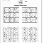 Pindadsworksheets On Math Worksheets | Sudoku Puzzles, Math | Sudoku Printable Medium 4 Per Page