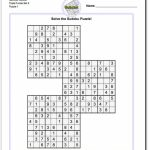 Pindadsworksheets On Math Worksheets | Sudoku Puzzles, Maths | Printable Sudoku Puzzles Com Samurai