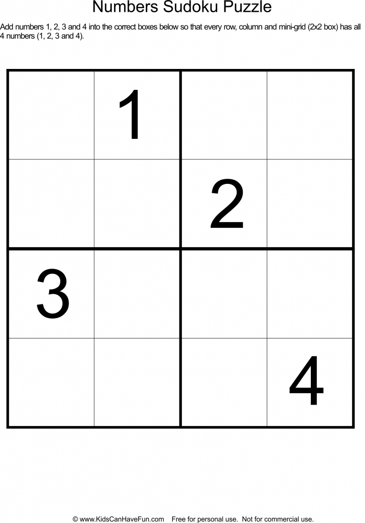 Printable Sudoku And Keys