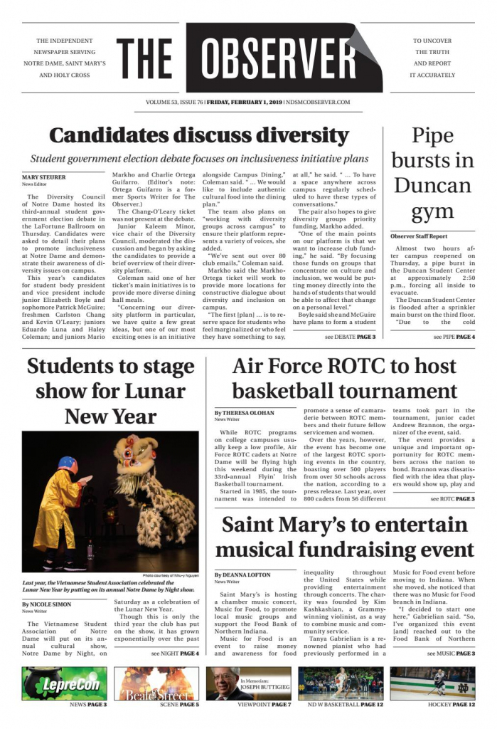 Print Edition Of The Observer For Friday, February 1, 2019The | Printable Sudoku Charlotte Observer