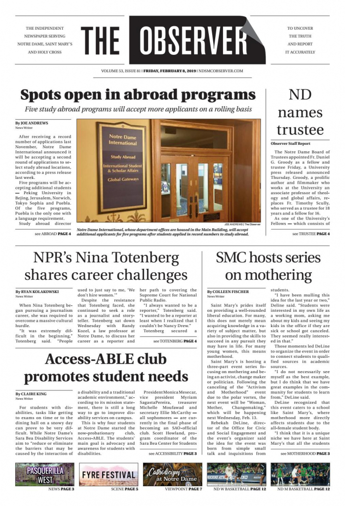 Print Edition Of The Observer For Friday, February 8, 2019The | Printable Sudoku Charlotte Observer