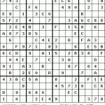 Printable 16X16 Sudoku With Numbers | Www.topsimages | Printable Monster Sudoku 16X16