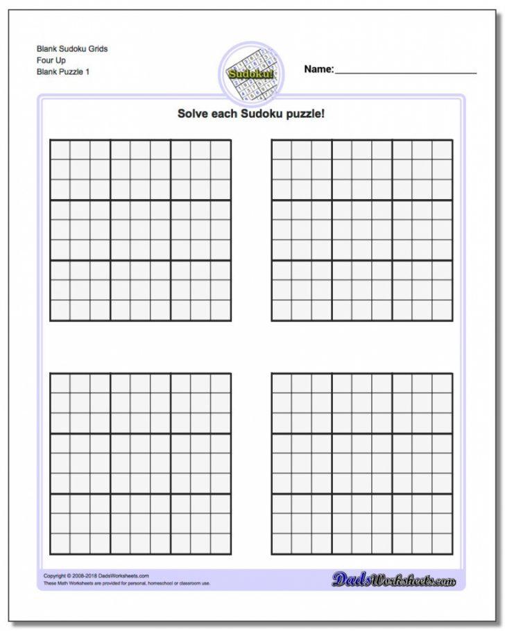 Printable Sudoku Blank Grids