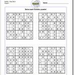 Printable Easy Sudoku | Math Worksheets | Math Worksheets, Free | Printable Math Sudoku