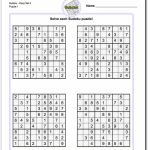 Printable Easy Sudoku | Math Worksheets | Math Worksheets, Free | Printable Sudoku And Keys