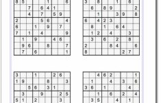 Printable Easy Sudoku | Math Worksheets | Sudoku Puzzles, Math | Printable Sudoku 4 Per Page With Answers