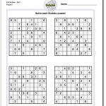 Printable Easy Sudoku | Math Worksheets | Sudoku Puzzles, Math | Printable Sudoku For 5 Year Olds