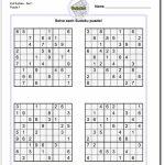 Printable Easy Sudoku | Math Worksheets | Sudoku Puzzles, Math | Sudoku Printable Middle School