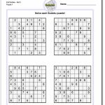 Printable Evil Sudoku | Math Worksheets | Aprendizaje | Printable Math Sudoku Worksheets