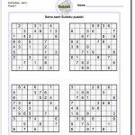 Printable Evil Sudoku | Math Worksheets | Aprendizaje | Printable Sudoku Hard