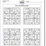 Printable Evil Sudoku Puzzles | Math Worksheets | Sudoku Puzzles | 4 Printable Sudoku
