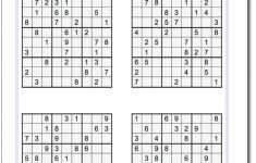Free Printable Tough Sudoku