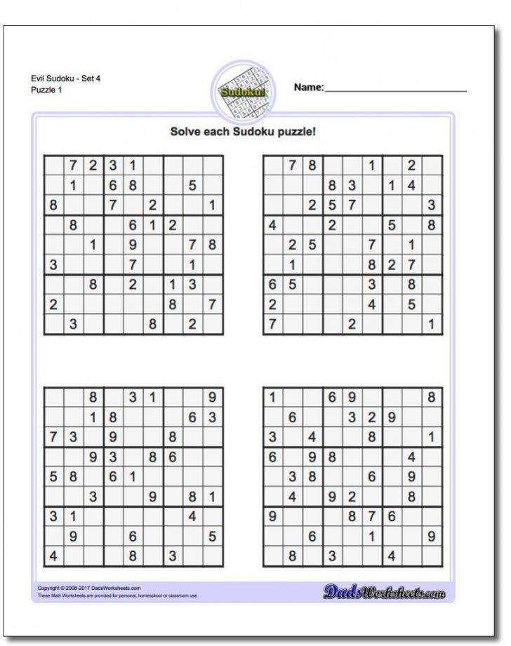 Free Printable Tough Sudoku