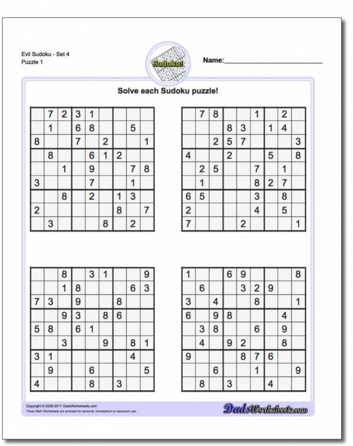 Hard Printable Sudoku Puzzles 4X4