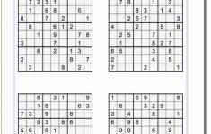 Printable Sudoku Sheets Medium Hard