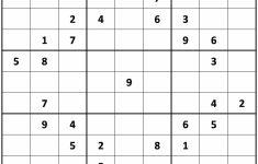 Printable Number Sudoku