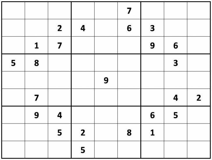 Printable Sudoku Hard Pdf