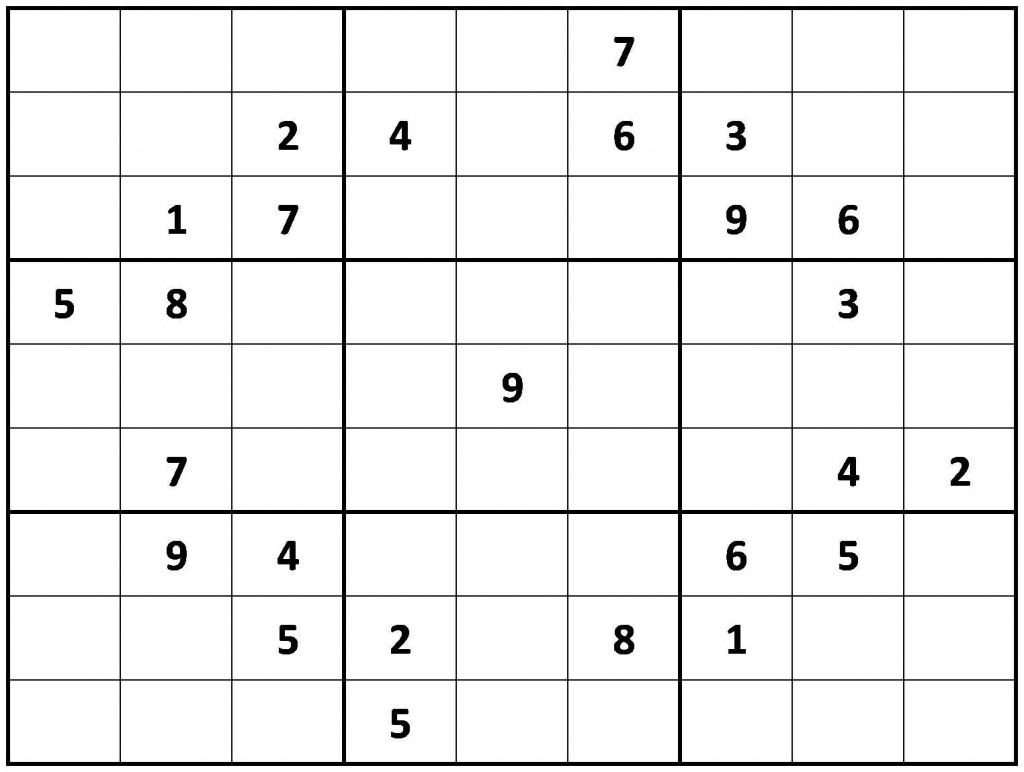 Printable Hard Sudoku | Printable - Difficult Sudoku Puzzles | Printable Sudoku Medium-Hard