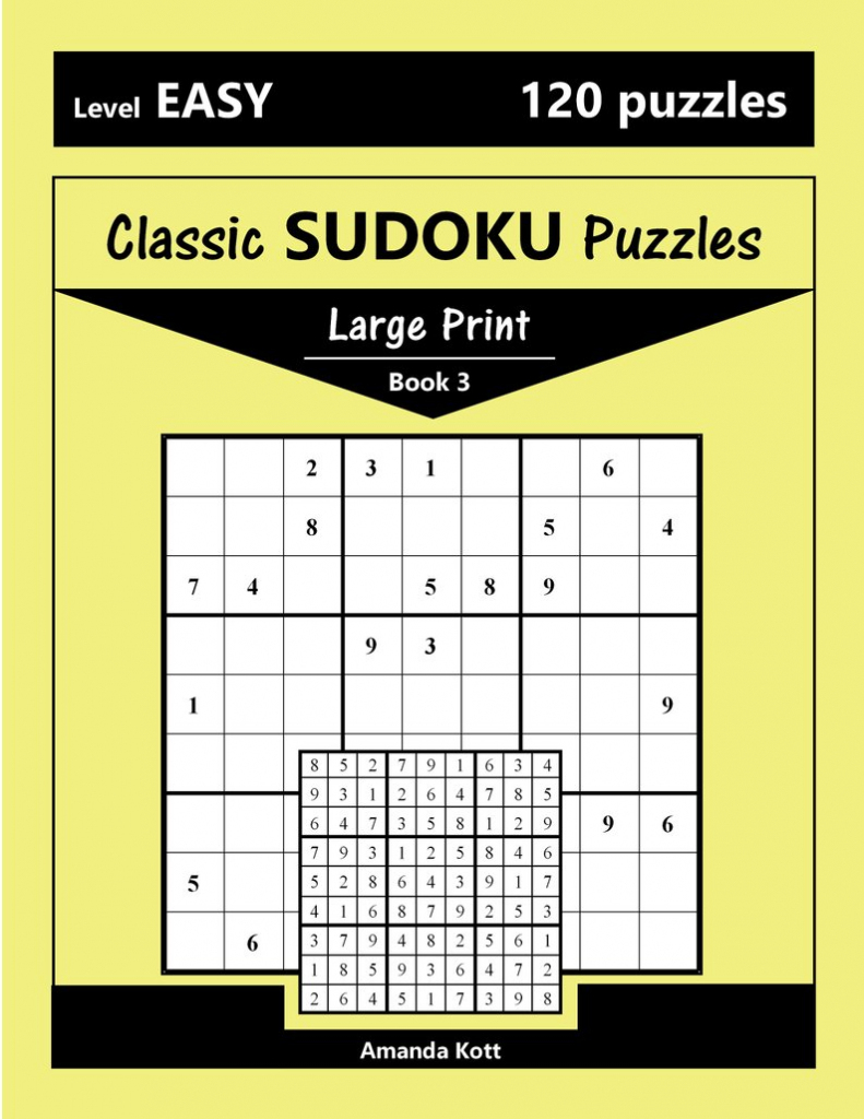 Printable Large Print Classic Sudoku Puzzles 120 Puzzles | Etsy | Large Printable Sudoku Grid