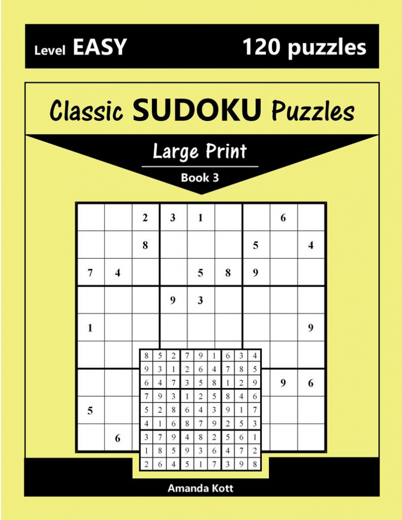 Printable Large Print Classic Sudoku Puzzles 120 Puzzles | Etsy | Printable Large Sudoku Puzzles