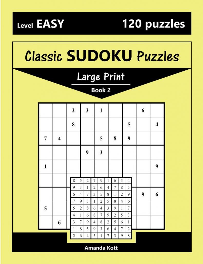 Printable Large Print Classic Sudoku Puzzles 120 Puzzles | Etsy | Printable Sudoku 2 Per Page Mild
