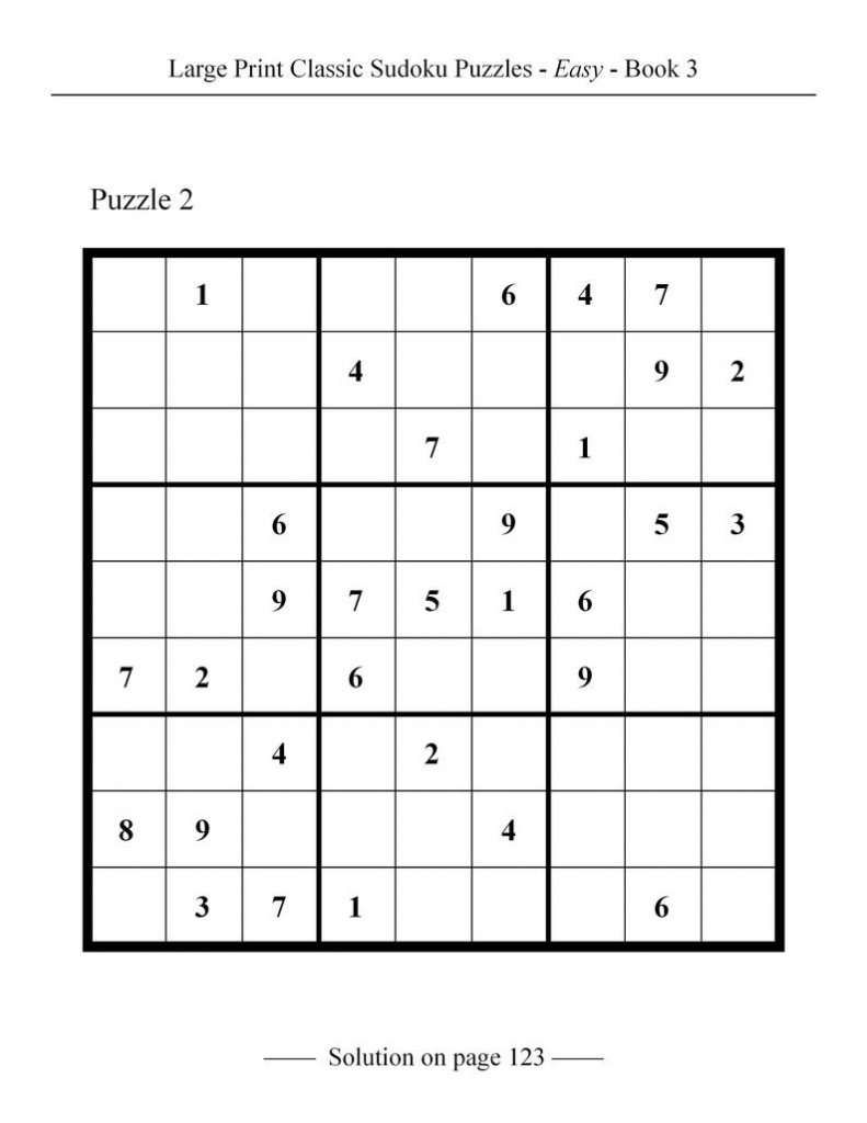 Printable Large Print Classic Sudoku Puzzles 120 Puzzles | Etsy | Printable Sudoku Large Print