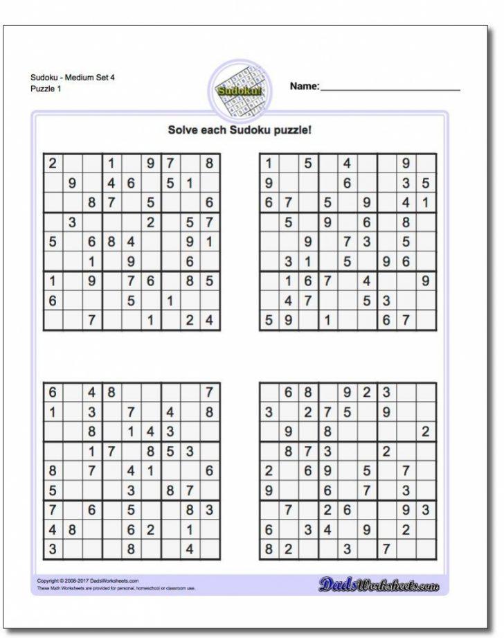 Printable Sudoku Puzzles Free