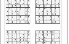 Printable Medium Sudoku Puzzles | Math Worksheets | Sudoku, Sudoku | 4 Sudoku Printable