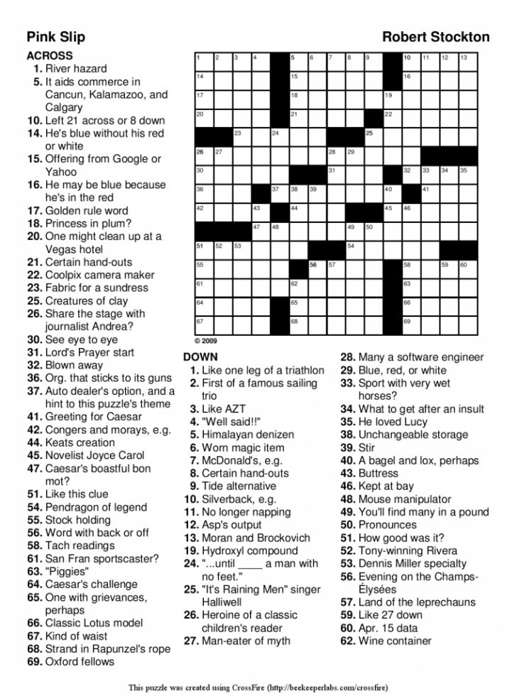 Printable Sudoku Crossword Puzzles