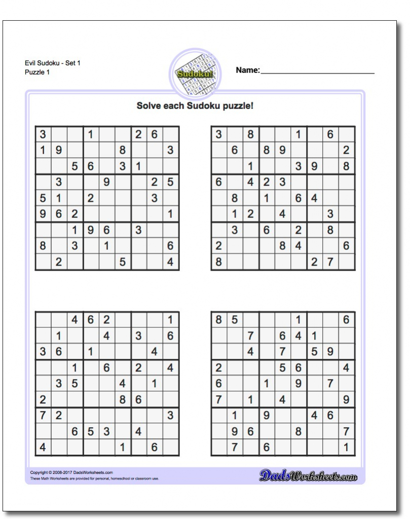 Printable Sodoku | Aaron The Artist | Printable Sudoku With Solution