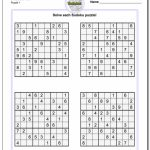 Printable Soduku | Room Surf | 4 Printable Sudoku Per Page