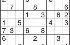 Free Printable Sudoku 4 To A Page