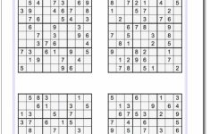 Printable Sudoku Puzzles 2 Per Page