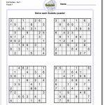 Printable Sudoku   Canas.bergdorfbib.co | Printable Sudoku Puzzles 4 Per Page