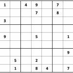 Printable Sudoku | Free Printable Tough Sudoku