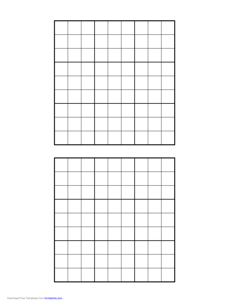 Printable Sudoku Grids - 2 Free Templates In Pdf, Word, Excel Download | Printable Blank Sudoku Forms