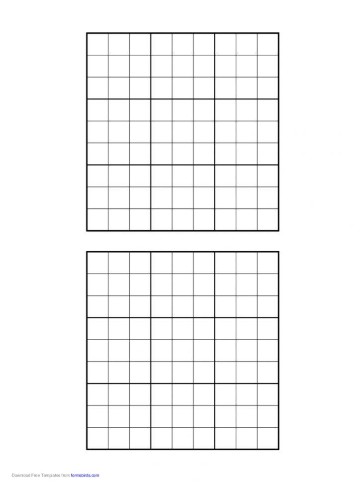 Printable Sudoku Blank