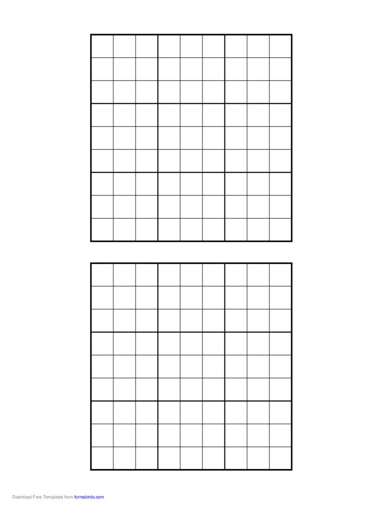 Printable Sudoku Grids - 2 Free Templates In Pdf, Word, Excel Download | Printable Sudoku Grid Pdf