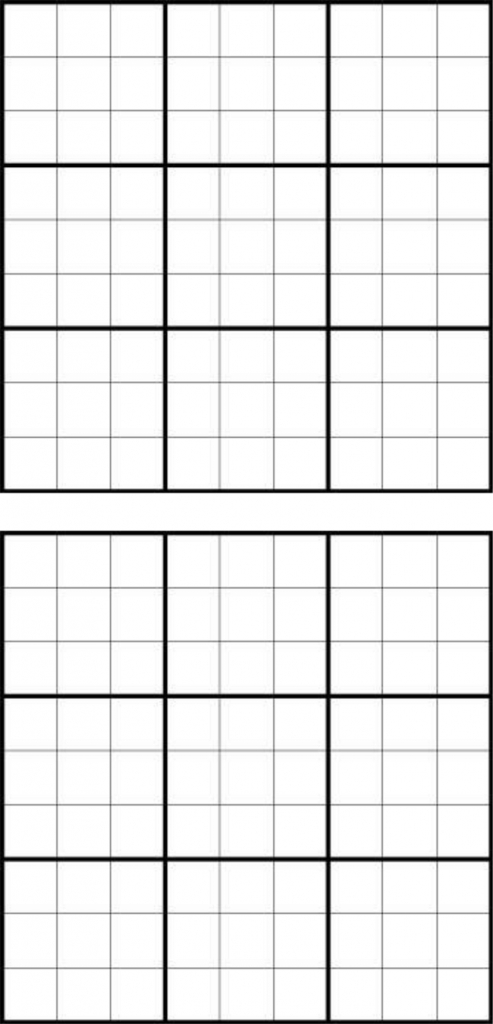 Printable Sudoku Grids - Have Fun Anytime | Printable Blank Sudoku Forms