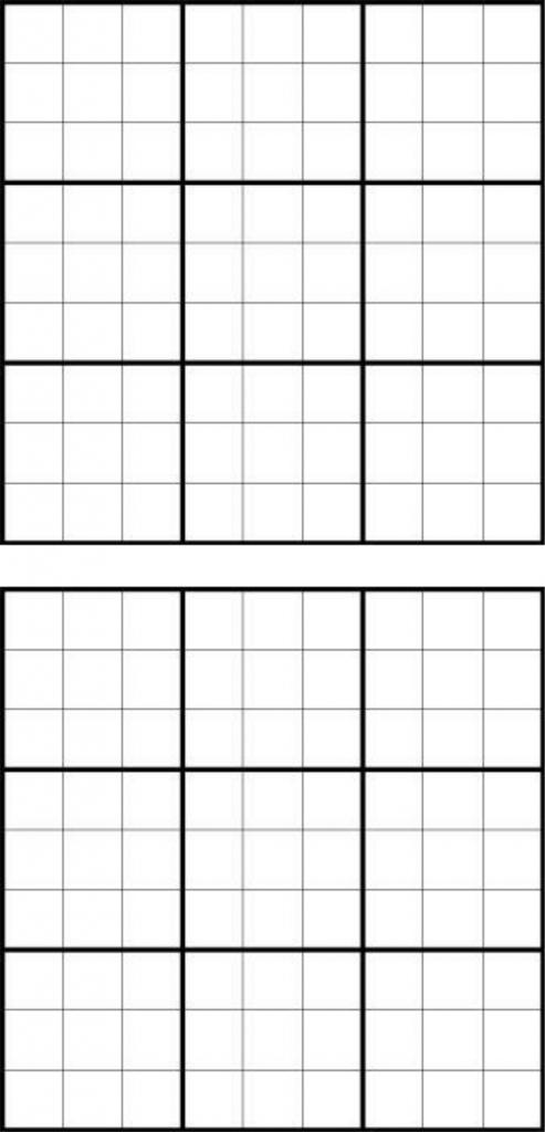 Printable Sudoku Grids - Have Fun Anytime | Printable Blank Sudoku Template