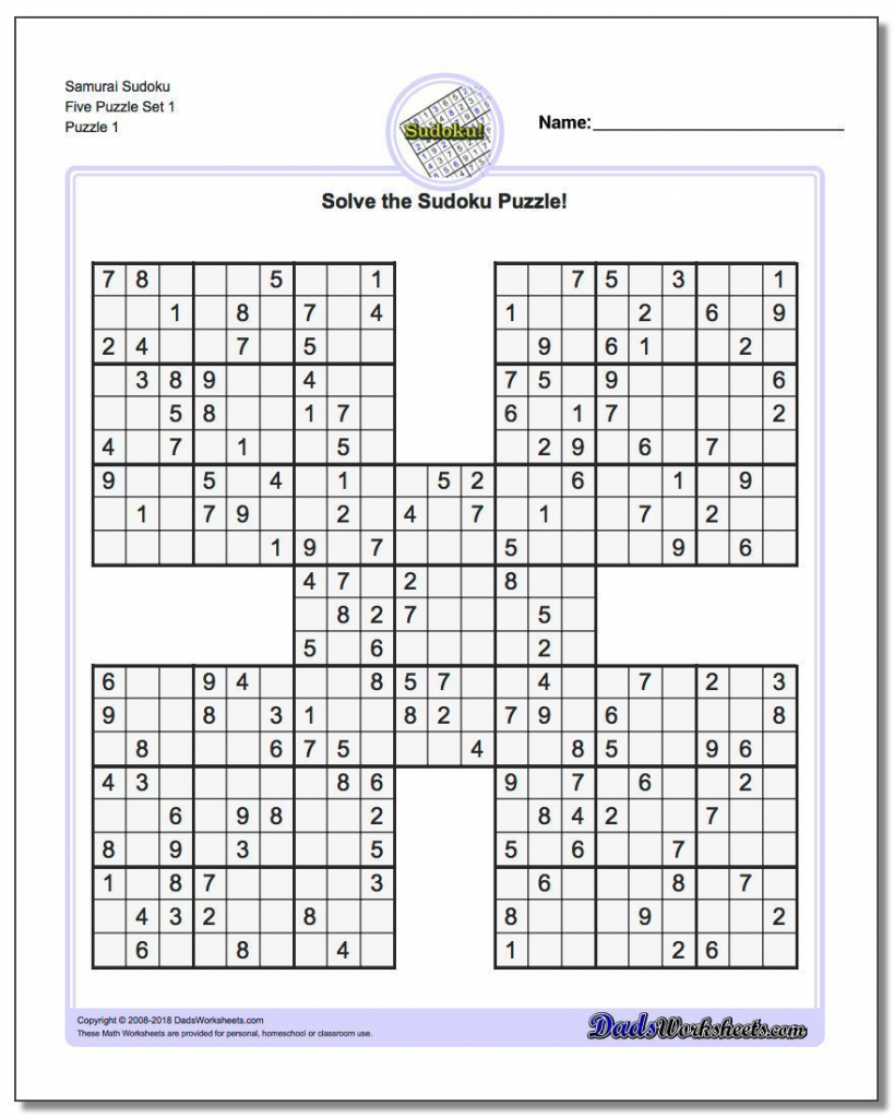 Printable Sudoku Is A Great Way To Practice Math! These Free Pdfs | Printable Sudoku 5 In 1