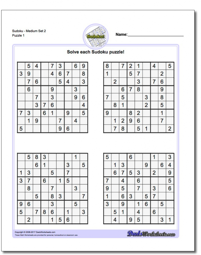 Printable Sudoku - Kleo.bergdorfbib.co | Printable Sudoku Site