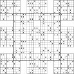 Printable Sudoku | Printable Samurai Sudoku Grid