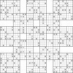 Printable Sudoku | Printable Samurai Sudoku Medium